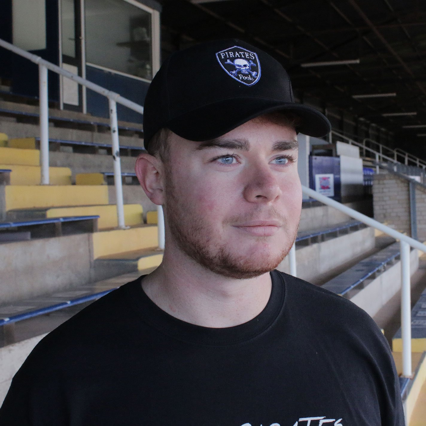 Poole Pirates Shield Black Cap